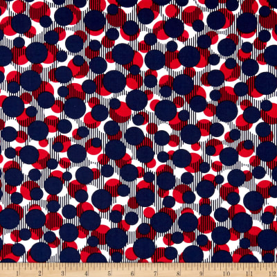 Kanvas Simply American Dots on Stripes Navy