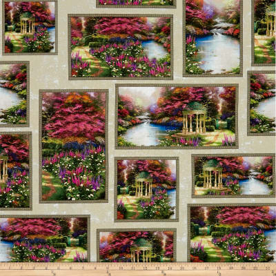 Thomas Kinkade Studio The Garden Prayer Allover Patch Multi