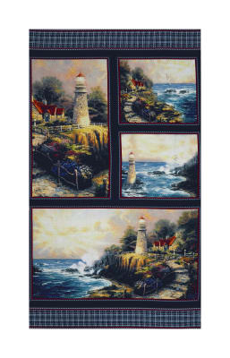"Thomas Kinkade Studio The Light of Peace 24"" Panel Multi"
