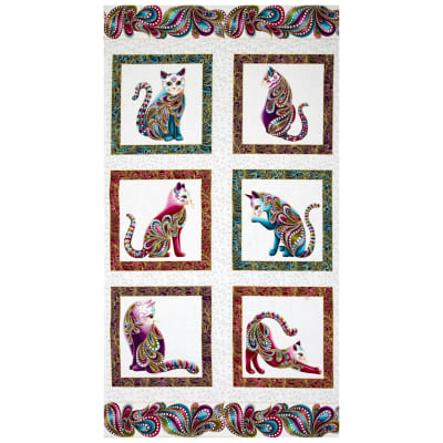 "Cat-I-tude Catitude 24"" Panel Metallic White/Multi"