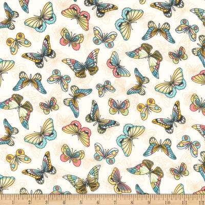 Kaufman London Calling Lawn Sweet Butterflies
