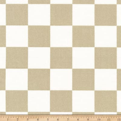 Kaufman Sevenberry Canvas Prints Tan Checks Squares