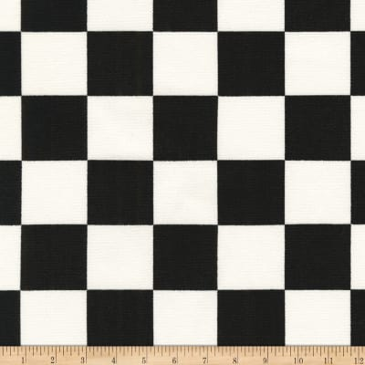 Kaufman Sevenberry Canvas Prints Black Checks Squares