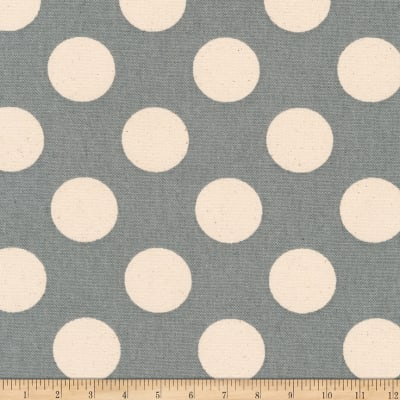 Kaufman Sevenberry Canvas Prints Slate Dots