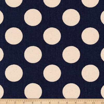 Kaufman Sevenberry Canvas Prints Midnight Dots