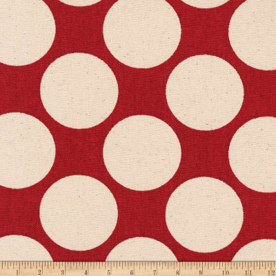 Kaufman Sevenberry Canvas Prints Crimson Dots