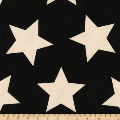 Kaufman Sevenberry Canvas Prints Black Stars