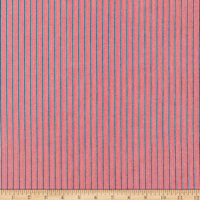 Kaufman Sevenberry Micro Classics Red Stripes