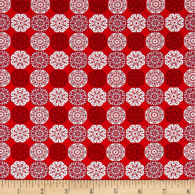 Contempo Let It Snow Paper Cut Flakes Red