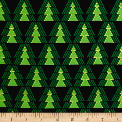 Kanvas Merry & Bright O' Christmas Tree Metallic Black
