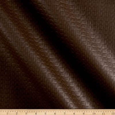 Richloom Tough Faux Leather Onpointe Chocolate