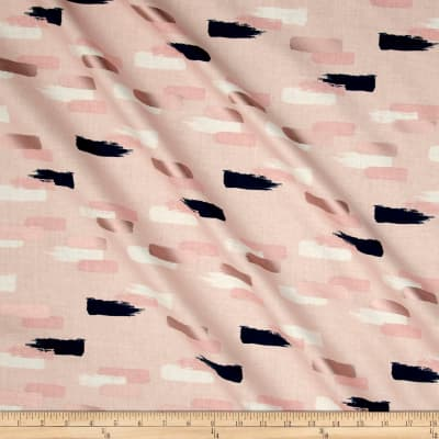 Riley Blake Blush Metallic Strokes Sparkle Pink