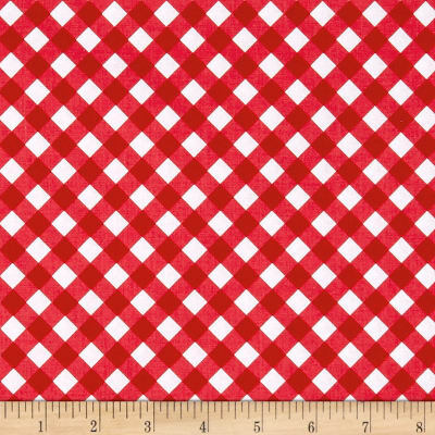 Riley Blake Patriotic Picnic Gingham Red