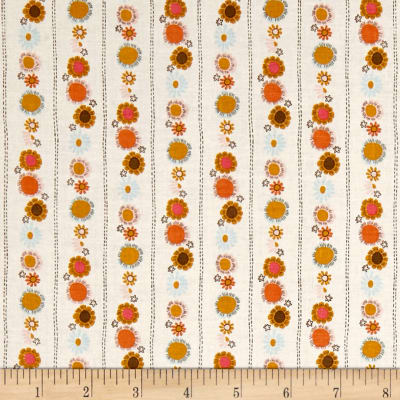 Riley Blake Guinevere Daisy Chain StripeCream