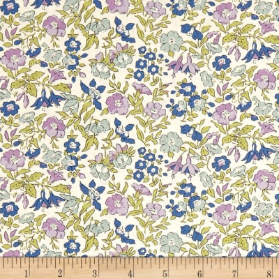 Liberty Fabrics The English Garden Mamie Z Lilac Green Blue