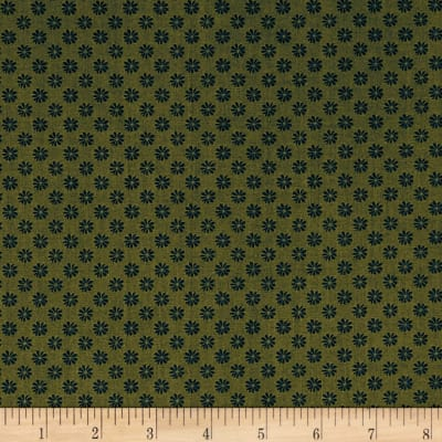 Liberty Fabrics The English Garden Floral Dot X Green