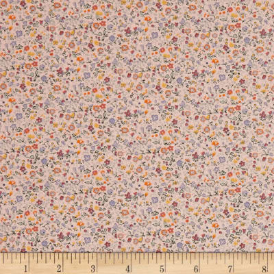 Liberty Fabrics The English Garden Newland Large Y Pink Blue Orange