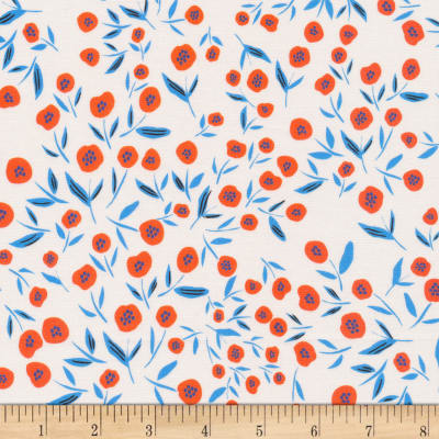 Cloud9 Organic No Place Like Home Poppies, Poppies Ivory