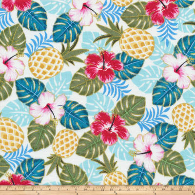 Cloud 9 Annabellla Tiki Hawaiian Organic Metallic White/Pink