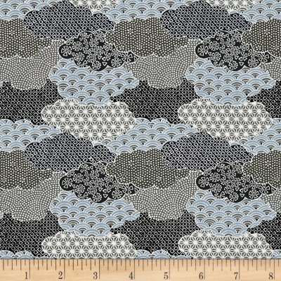 The Moon Rabbit Oriental Abstract Garden Gray