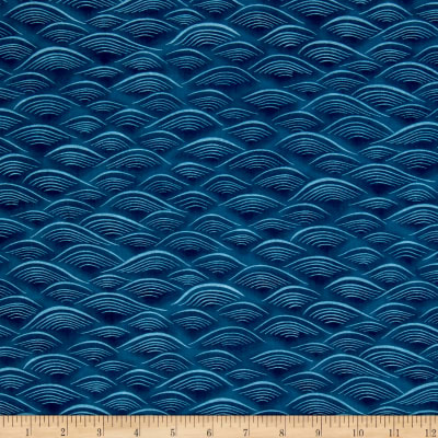 Kaufman Imperial Collection Waves Blue