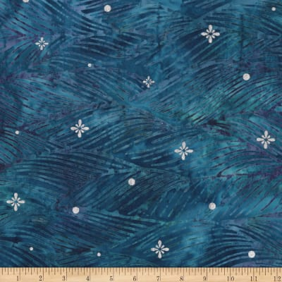 Kaufman Northwoods Batik Waves Metallic Winter