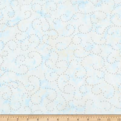 Kaufman Northwoods Batik Flourish Metallic Ice
