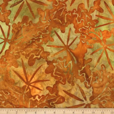 Kaufman Cornucopia Fall Leaves Batik Pumpkin