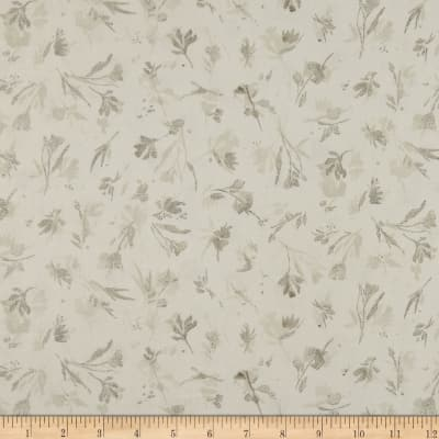 Kaufman Sound Of The Woods Twigs Branches Flowers Grey