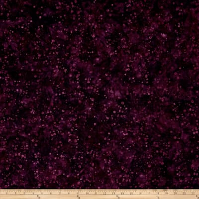 Blossom Batiks Valley Ink Dots Aubergine