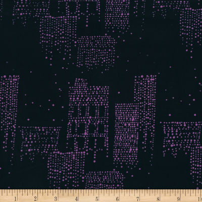Hoffman Me + You Indah Batiks Buildings Midnight