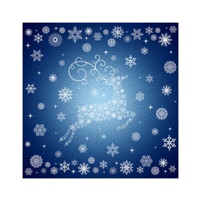 "Hoffman Digital Supernova Seasons 43"" Snowflake Reindeer Panel Navy"