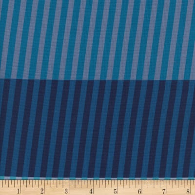 Cotton + Steel Eclipse Party Stripes Navy