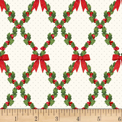 Let It Sparkle Bows And Holly Radiant Winter Metallic Whit