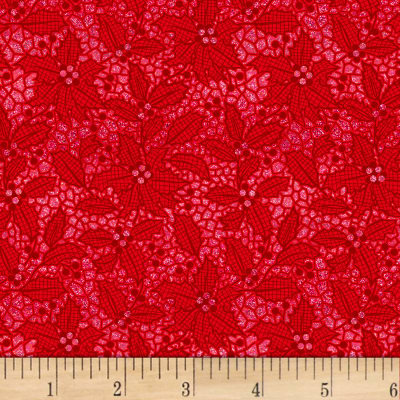 Let It Sparkle Holiday Lace Radiant Metallic Ruby