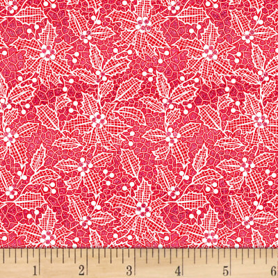 Let It Sparkle Holiday Lace Radiant Metallic Cherry