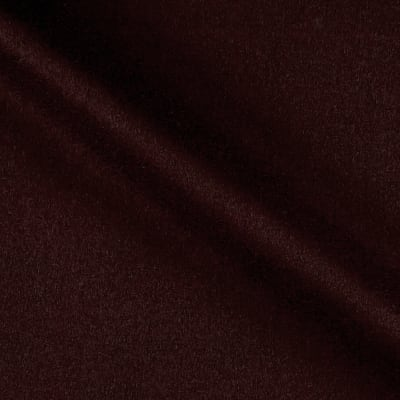 Wool Blend Melton Coating Burgundy