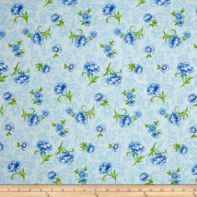 Easycare Broadcloth Anna Blue