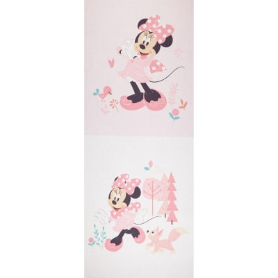 """Mickey & Minnie Mouse Little Meadow Minnie Little Meadow 36"""" Panel Pink"""