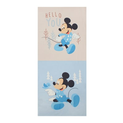 "Mickey & Minnie Mouse Little Meadow Mickey Little Meadow Multi 36"" Panel In Blue"