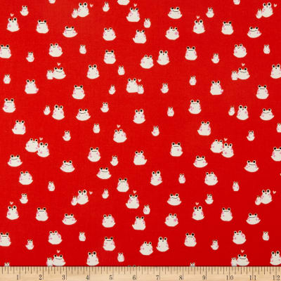Cotton + Steel Front Yard Frogs Red