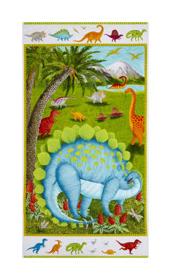 "Dino Party Dinosaur 24"" Panel Multi"