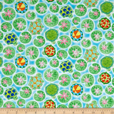 Toby Turtle Turtles And Lilypads   Light Blue