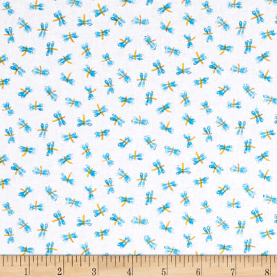 Toby Turtle Dragonflies  White
