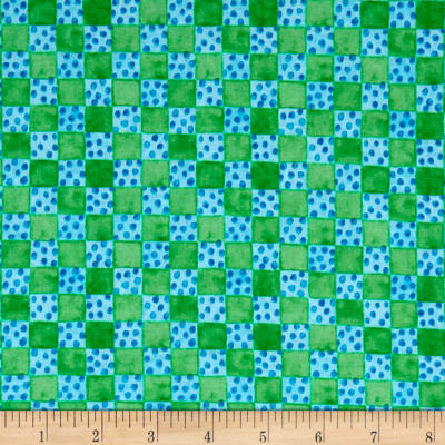 Toby Turtle Checkerboard  Green