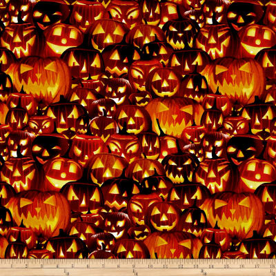 Fright Night Pumpkins Glow in the Dark Orange