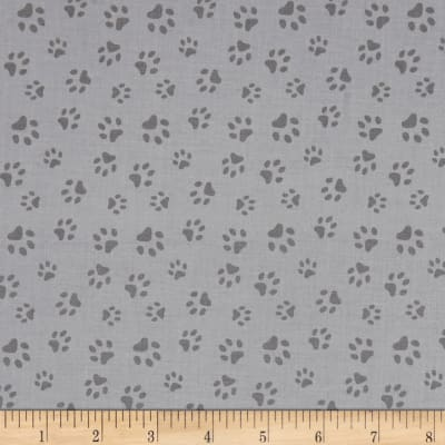 Furr Ever Friends Cat Paw Prints Gray