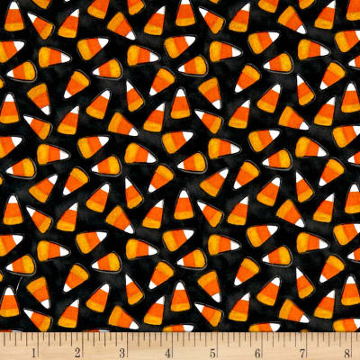 Too Cute To Spook Candy Corn Black