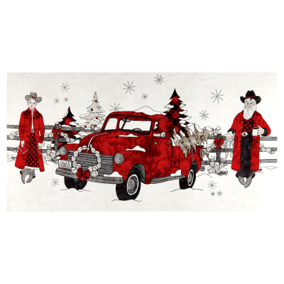 """Western Greetings Mr. & Mrs. Clause 24"""" Panel White"""