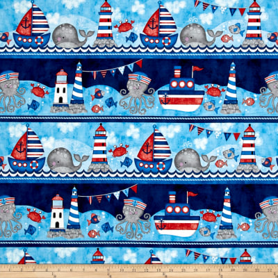 Anchor'S Away Large Sea Stripe Navy/Red